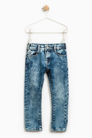 Skinny-fit, faded-effect jeans, Light Wash, hi-res