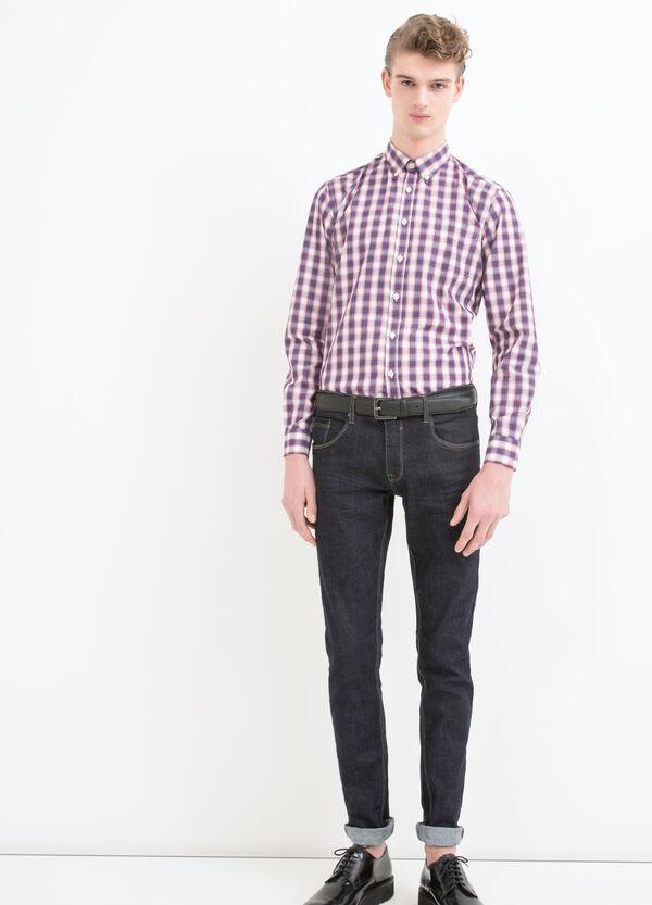 Camicia misto cotone a quadri | OVS
