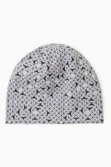 Reversible beanie cap, Grey, hi-res
