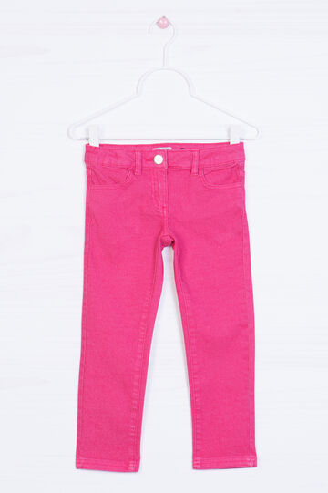 Plain stretch jeans, Pink, hi-res