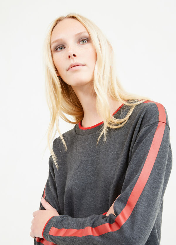 Sweatshirt with printed sleeves | OVS