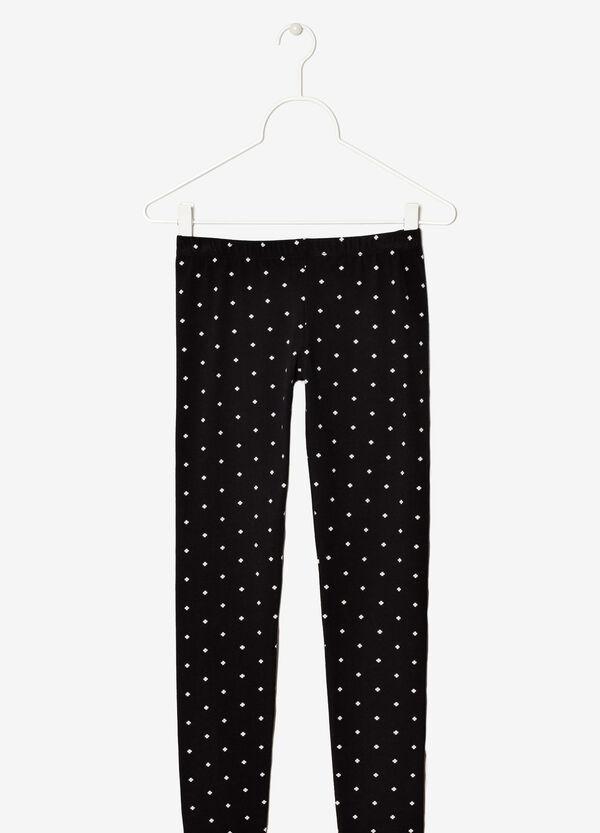 Contrasting patterned leggings | OVS