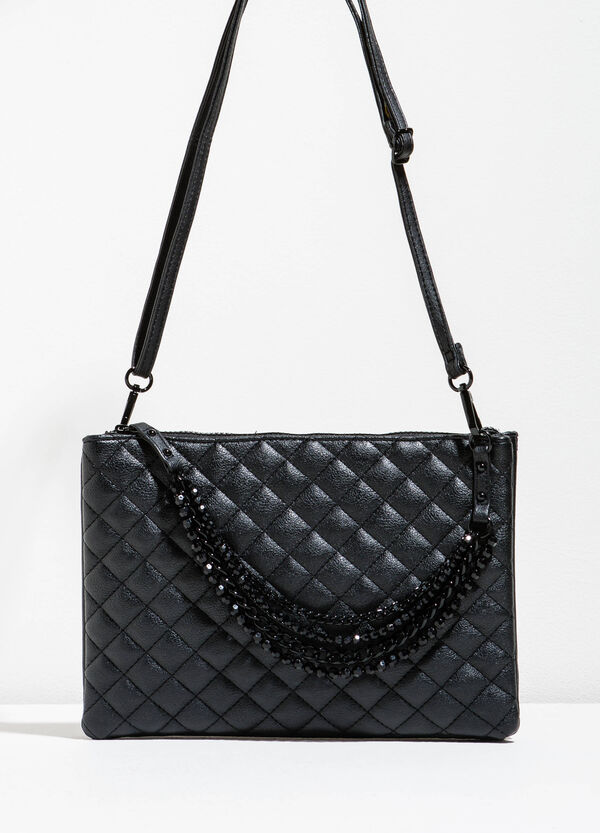 Quilted shoulder bag with beads | OVS