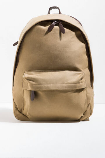 Cotton backpack with zip