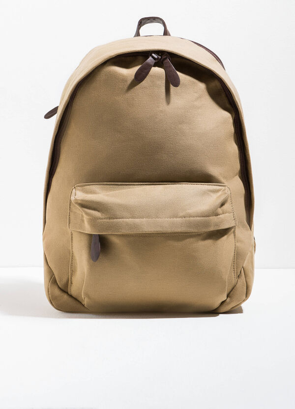 Cotton backpack with zip | OVS