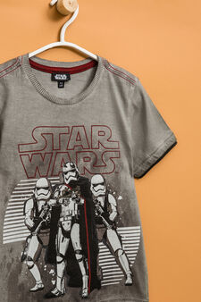 T-shirt with Star Wars print and inserts, Concrete Grey, hi-res