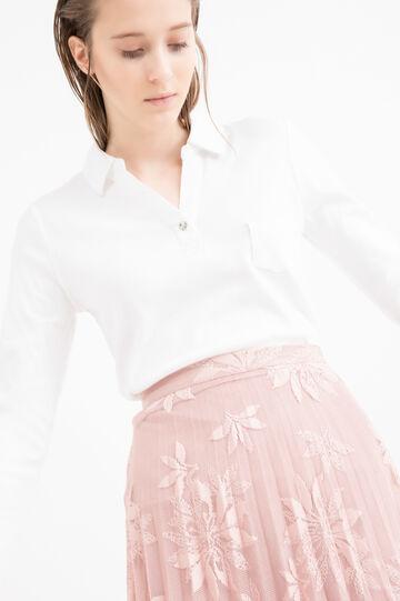 100% cotton polo shirt with pocket, White, hi-res
