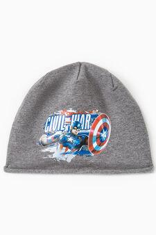 Civil War print beanie cap, Grey Marl, hi-res