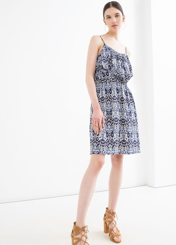 Dress with frills and print | OVS