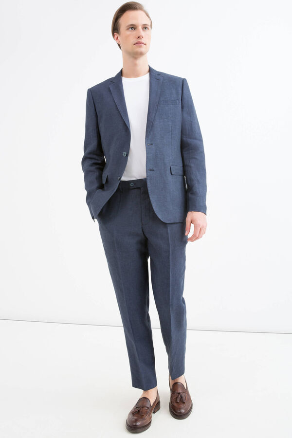 Giacca regular fit in puro lino | OVS