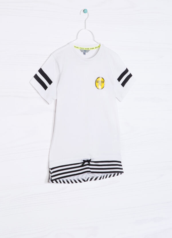 100% cotton T-shirt with drawstring | OVS