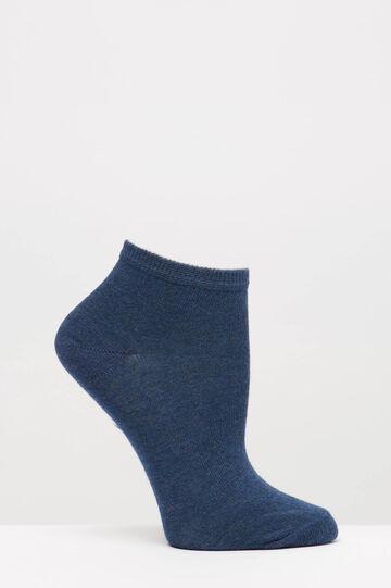 Two-pack short patterned socks, Blue, hi-res
