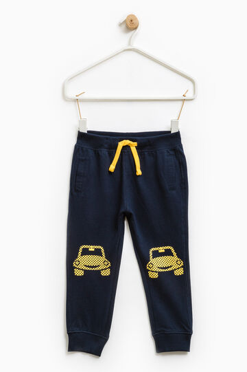 100% cotton joggers., Navy Blue, hi-res