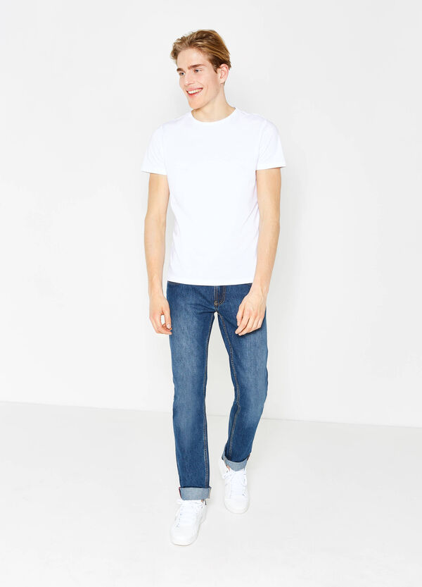 Faded-effect straight-fit jeans | OVS