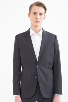 Elegant, slim-fit viscose suit, Dark Grey, hi-res
