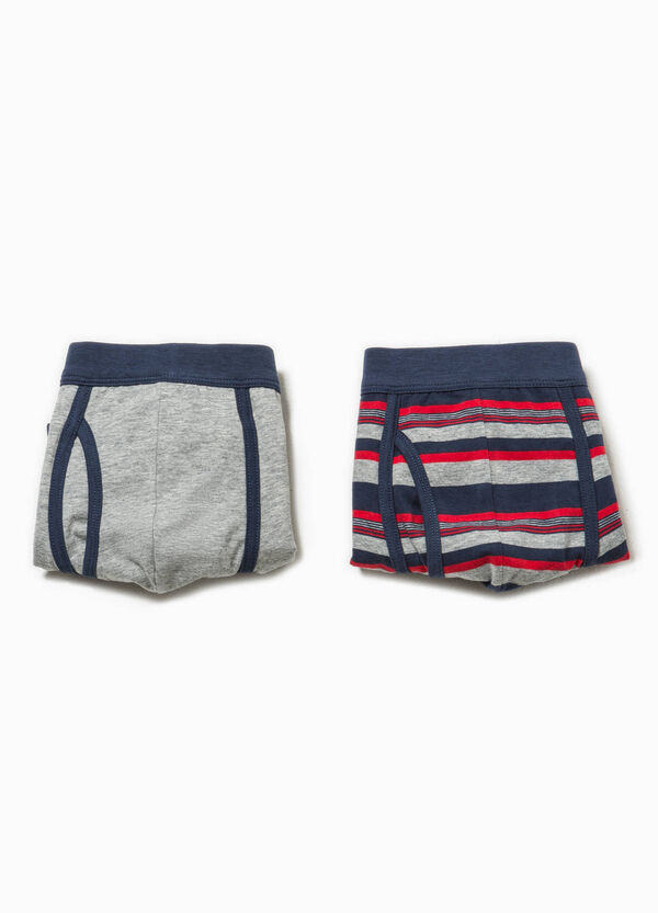 Two-pack solid colour and striped boxer shorts | OVS