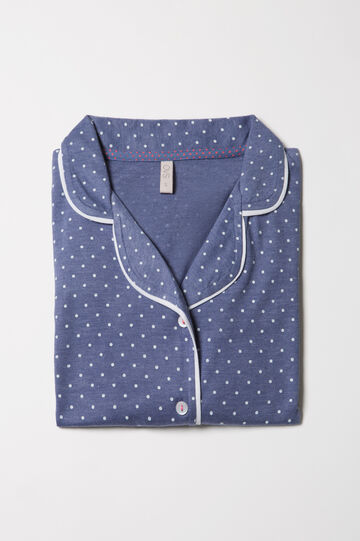 100% cotton polka dot pyjama top.