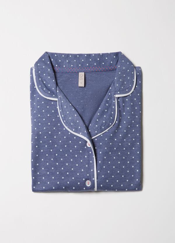 Maglia pigiama in puro cotone pois | OVS
