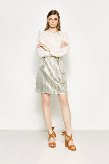High-waisted jacquard skirt with lurex