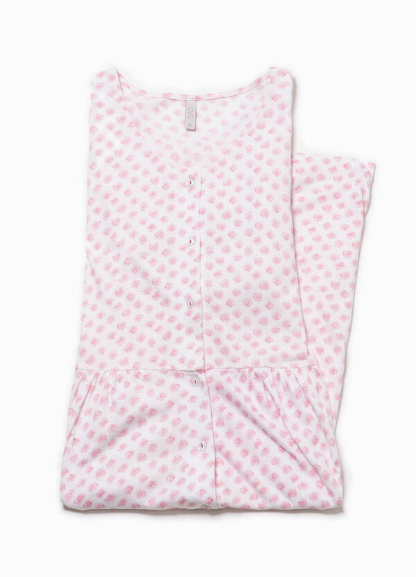 Printed nightshirt with lace | OVS
