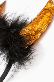 Halloween hairband with sequins, Orange, hi-res