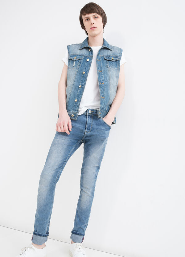 Faded denim waistcoat with pockets | OVS
