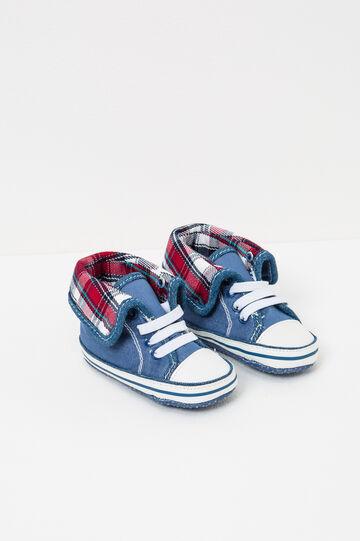 Sneakers con interno a quadri, Blu, hi-res