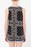 Stretch patterned top, Black/White, hi-res