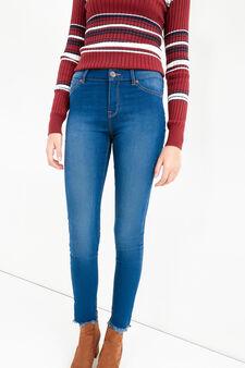 Jeans super skinny fit effetto delavato, Blu scuro, hi-res