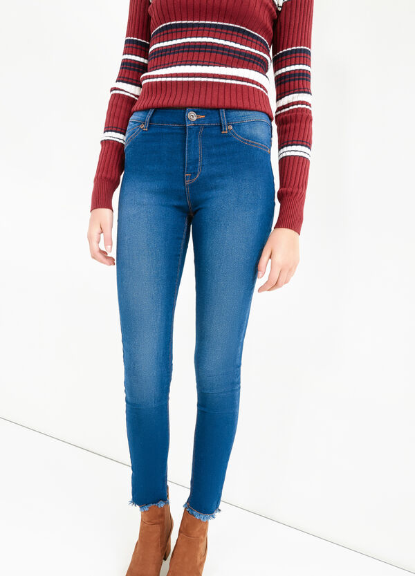 Faded-effect, super skinny-fit jeans | OVS