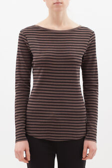 Striped T-shirt in 100% cotton, Multicolour, hi-res