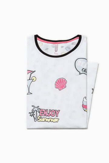 Nightshirt with patterned back, Multicolour, hi-res