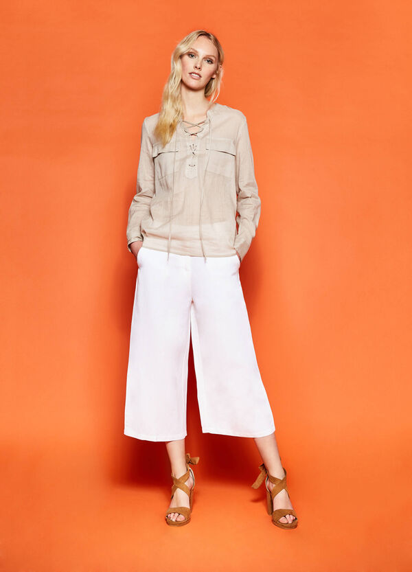 Crop palazzo trousers | OVS