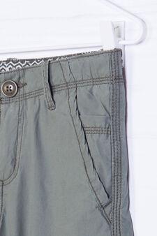 Cotton Bermuda shorts with pockets, Olive Green, hi-res