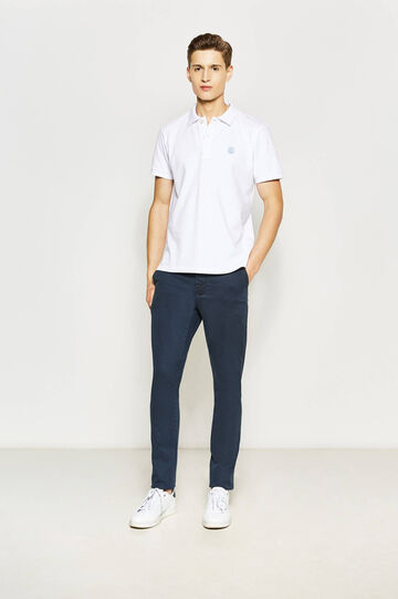 Slim fit, stretch chino trousers, Blue, hi-res