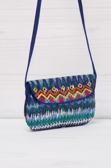 Patterned cotton shoulder bag