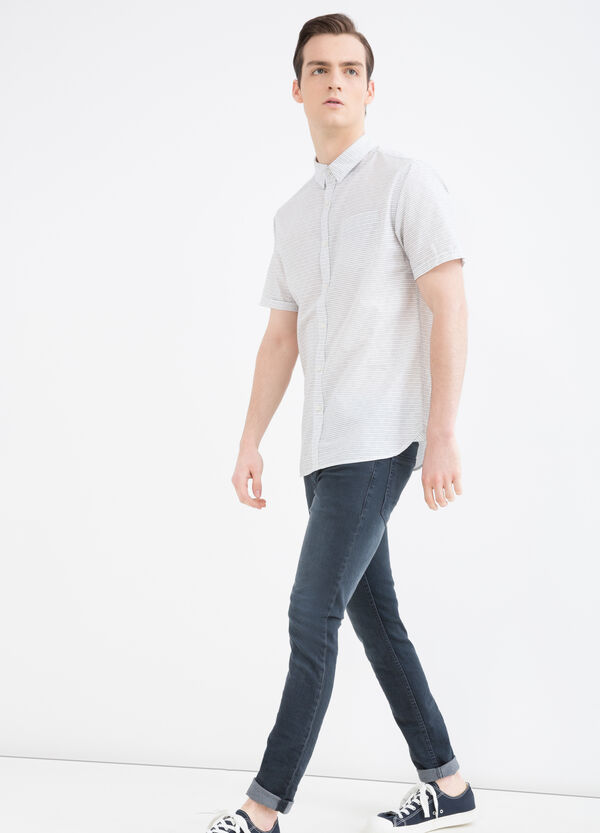 Printed shirt with button collar | OVS