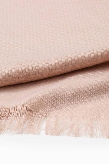 Sciarpa tricot bordi sfrangiati, Rosa, hi-res