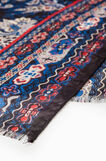 Paisley scarf with fringed edges, Multicolour, hi-res