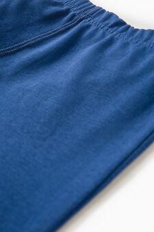 Boxer cotone con vita elasticata, Blu chiaro, hi-res