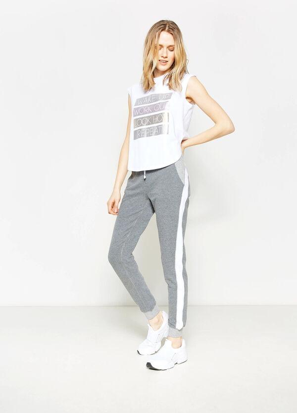 Pantaloni tuta stretch con bande | OVS