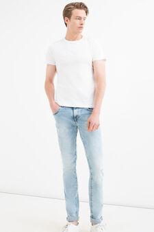 Jeans skinny fit stretch delavé, Denim, hi-res