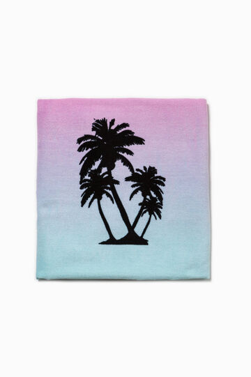 Degradé beach towel with print
