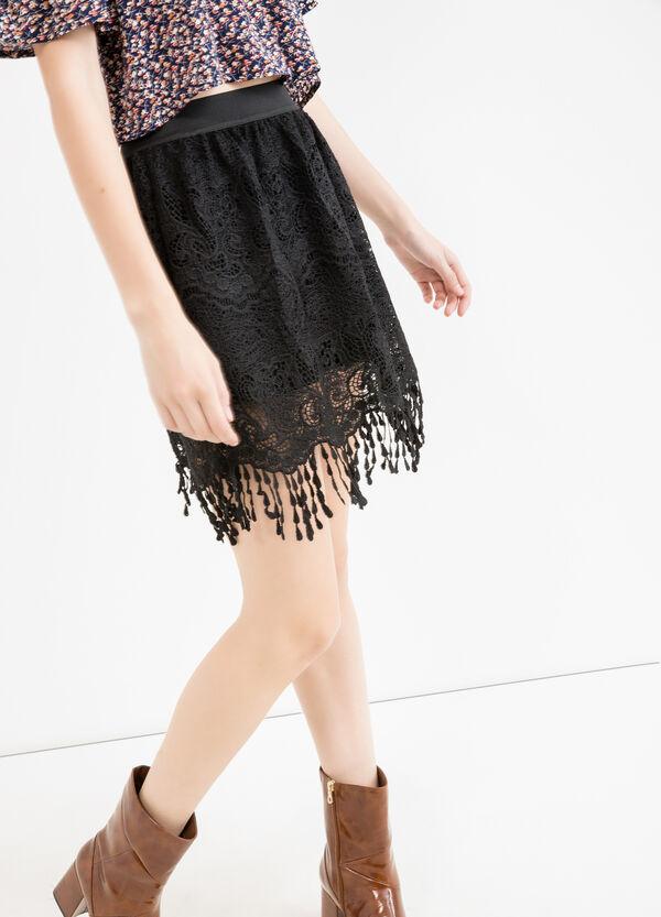 High waist openwork skirt | OVS