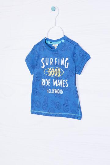 T-shirt puro cotone con costina