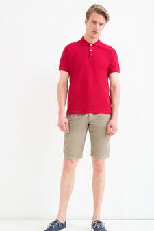 100% cotton Bermuda chinos with drawstring, Khaki, hi-res