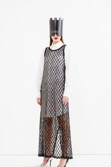 Mesh dress, Jean Paul Gaultier for OVS, Black, hi-res