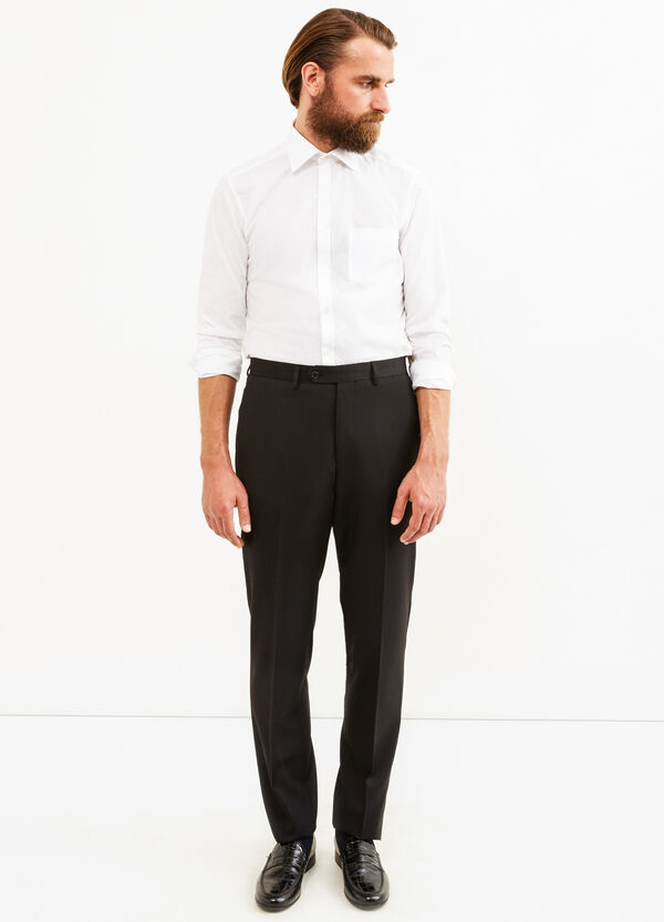 Elegant regular fit trousers with crease   OVS