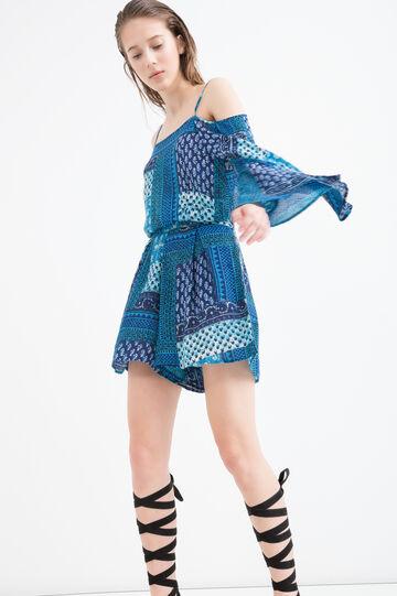 Short printed dress, Light Blue, hi-res