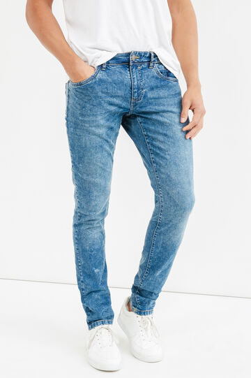 Jeans skinny fit effetto maltinto stretch, Denim, hi-res